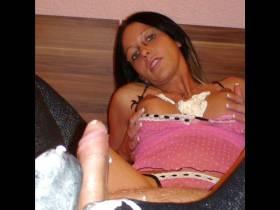 Sahne Titten-Foot Handjob