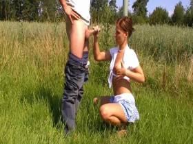 outdoor handjob