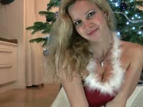 Weihnachten steht vor der Muschi...