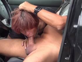 Im Auto geblasen...