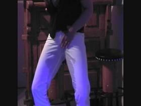 Geil in meine weiße Jeans gepisst