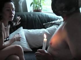 Der Wichser mit der Kerze