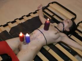 BDSM HAREM Wax.Die versaute Sklavin Part-1