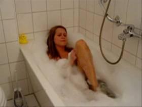 Geil in der Badewann