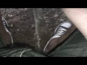 Pech für seine Sneaker:-)