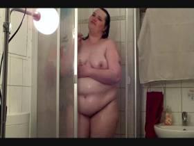 Ich beim Duschen mit Dirty Talk