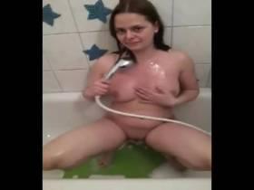 Ich sitze in der Badewanne