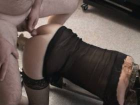 Fickmaschine und Schwanz im Arsch