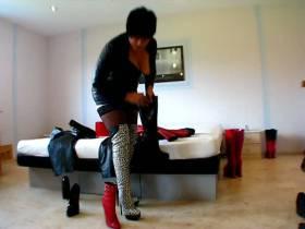 Leder und Heels - Rot oder schwarz?